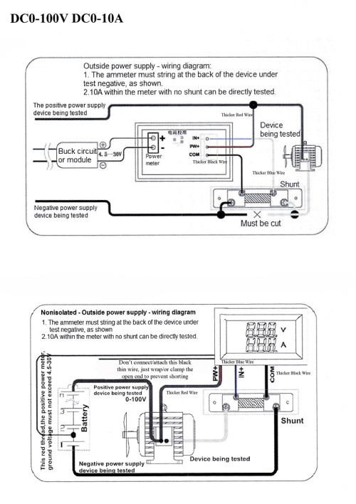 small resolution of wiring diagram without shunt amp meter