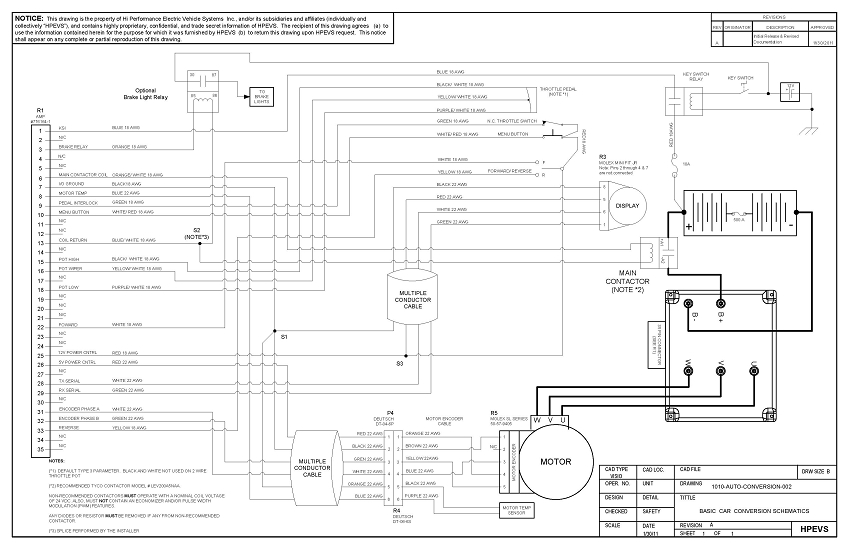 Wiring Diagram Electric Car Conversion