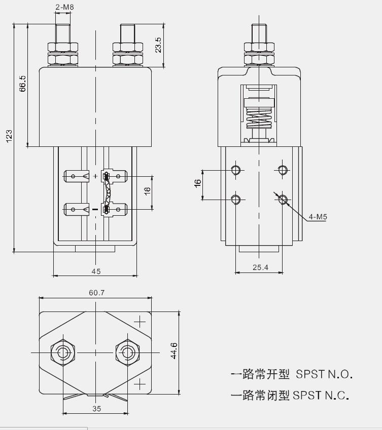 200A 12,000W, 12kW Contactor 12V-1000A, 24V-500A, 48V-250A