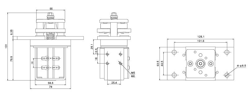 800A 80VDC 250VAC 12V, 24V, 48V, 60V DC Coil EV Contactor Set