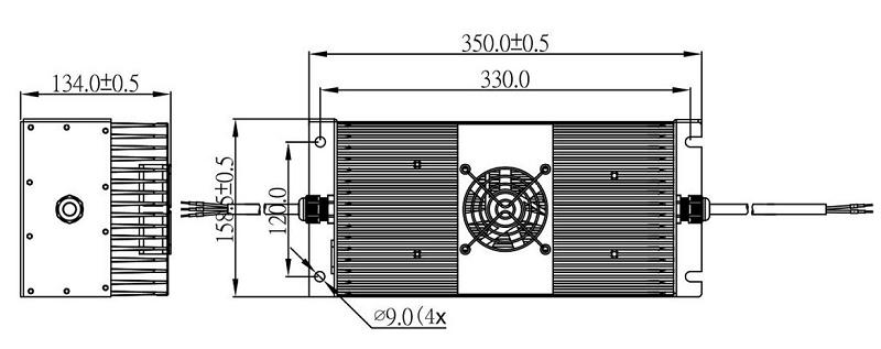 Lithium Battery Chargers 1.8kW 1800 Watts 24V 36V 48V 60V
