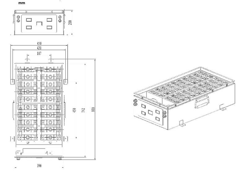 Lithium Battery Pack 12V 500Ah 24V 250Ah 48V 125Ah EV
