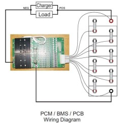 Bms Wiring Diagram Ebike Electric Pocket Bike 24v Great Installation Of 25 6v 28 8v Pcb Pcm 8 Cell Battery Series 4a 300a Max Current Rh Electriccarpartscompany Com Heritage 150 3s