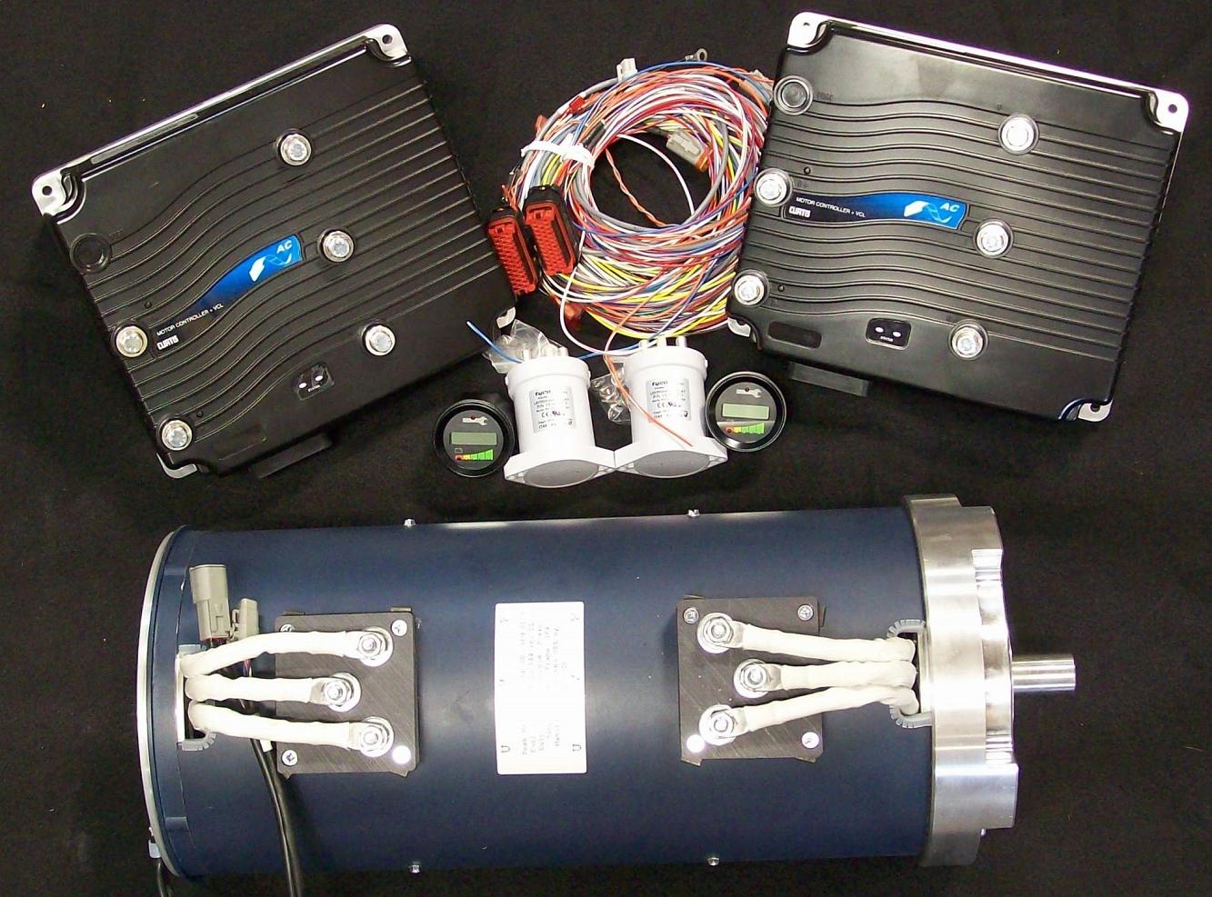 Ac Motor Schematic Diagram Ac 34x2 Ac 35x2 144v Dual Motor Kit 72v 96v 108v 120v 132v