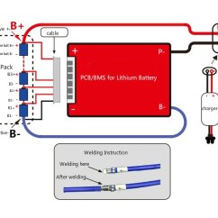 4s Bms Wiring Diagram For 3 Port Motorised Valve Battery Management System 12v 10a 200a Electric Car Parts Company
