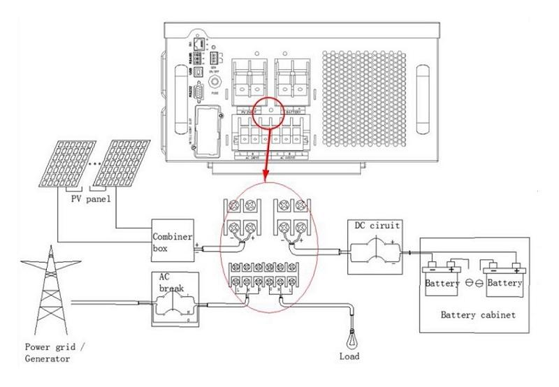 solar home lighting system wiring diagram