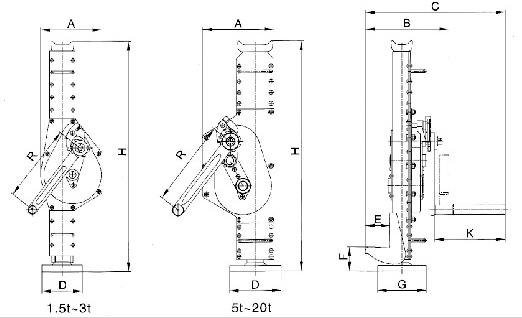 Red Blue Rack Pinion Jack Save Labour And Specification