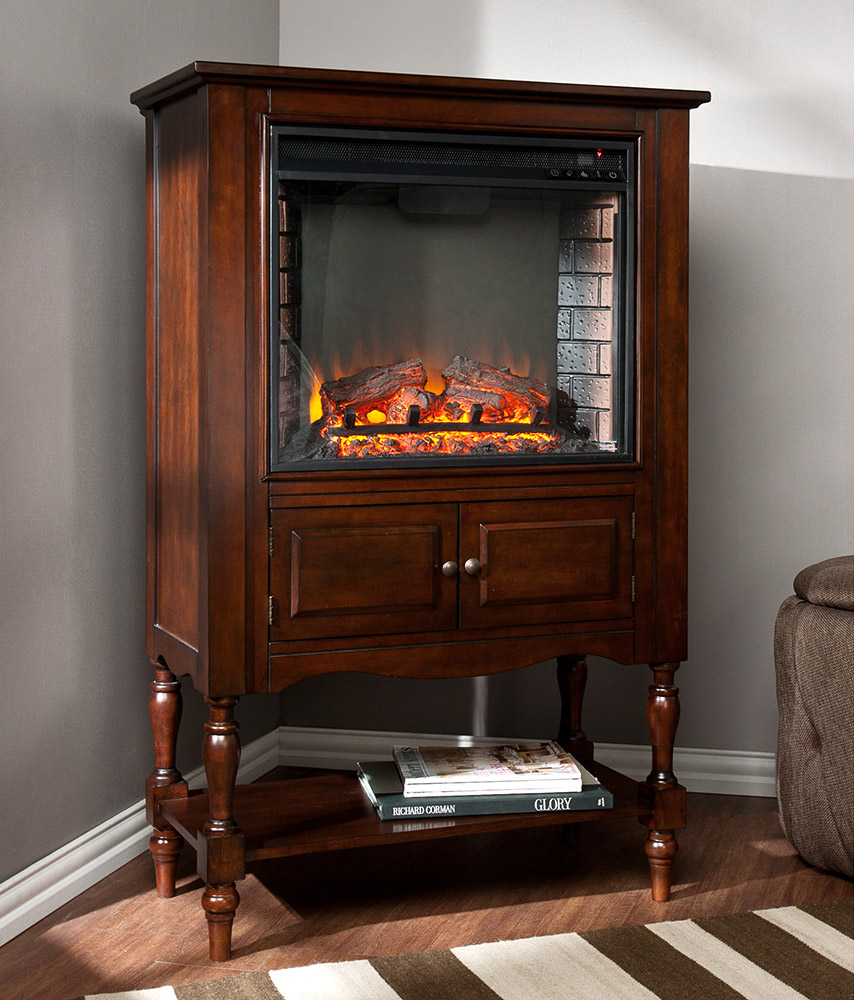 Providence Wall or Corner Electric Fireplace Mantel Package in Mahogany  FE9807