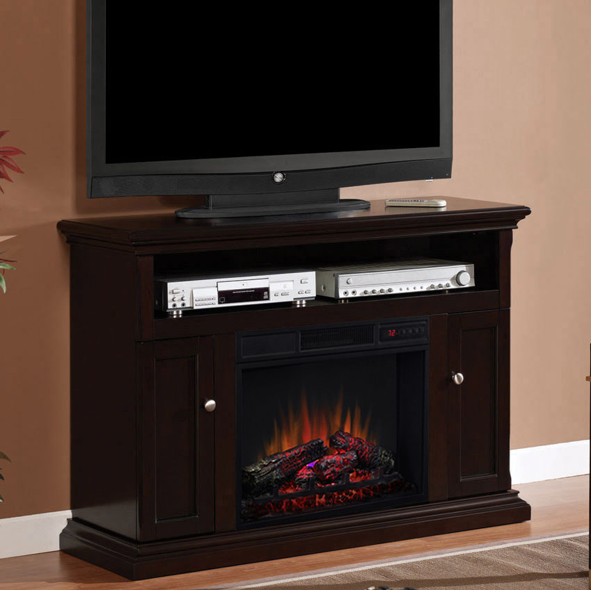 Cannes Infrared Electric Fireplace Media Cabinet in