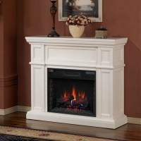 Artesian White Infrared Electric Fireplace Mantel ...
