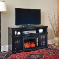 Dwyer Electric Fireplace Media Console in Espresso ...
