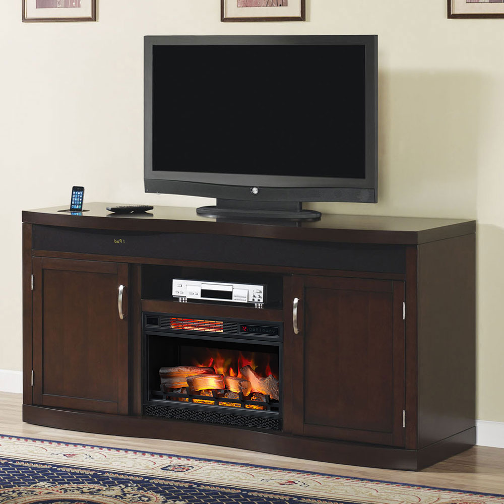Endzone Electric Fireplace Entertainment Center in Espresso  26TF8299E451