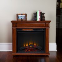 Comfort Smart Perri Infrared Rolling Fireplace Mahogany ...