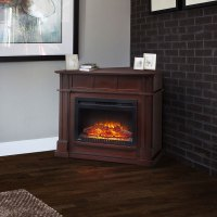 "Bailey Wall/Corner Espresso & 24"" Firebox 