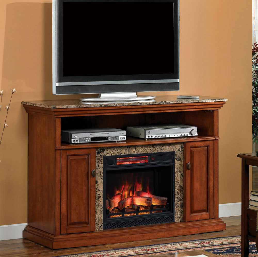 Brighton Infrared Electric Fireplace Media Console in Golden Honey  23MM1424W276