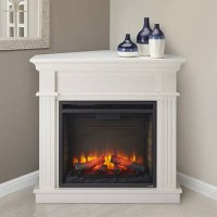 Crestwood Electric Fireplace Mantel Package in White ...