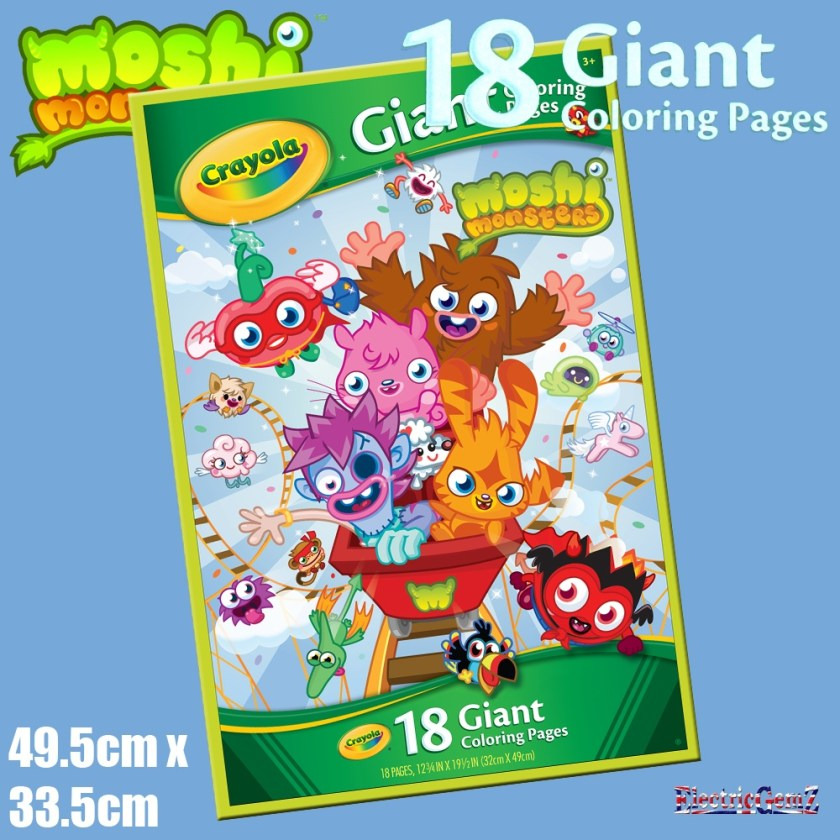 crayola moshi monsters giant colouring pages