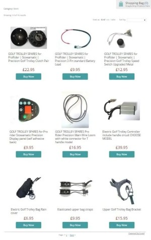 Electric Golf trolley spares explained  Various parts for golf trolleys