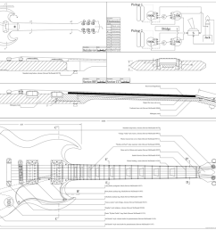 gibson sg custom guitar templates electric heraldgibson sg complete building plans [ 1194 x 788 Pixel ]