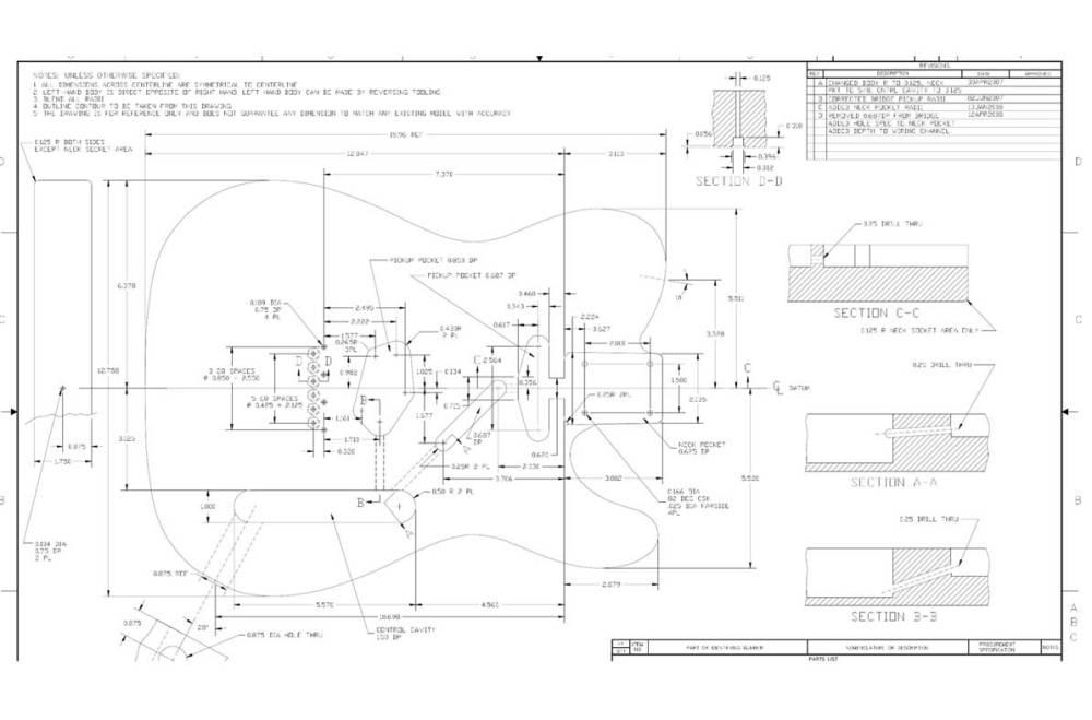 medium resolution of telecaster body front