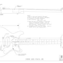Les Paul Junior Wiring Diagram Human Leg Anatomy Gibson Guitar Templates Electric Herald