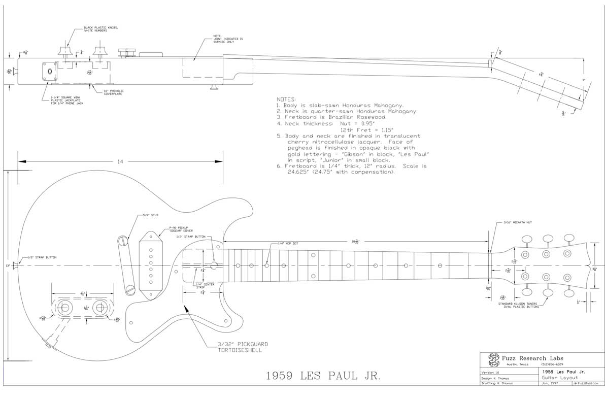 hight resolution of les paul junior double cut
