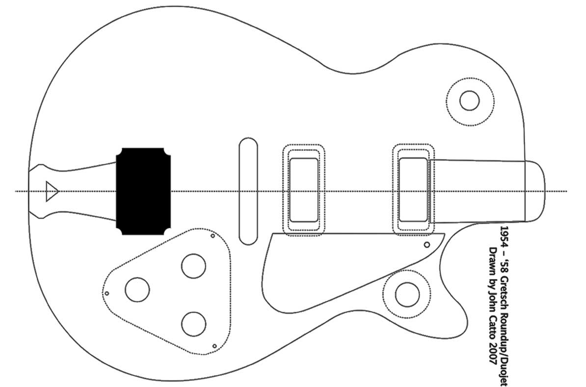 Guitar Body Schematic