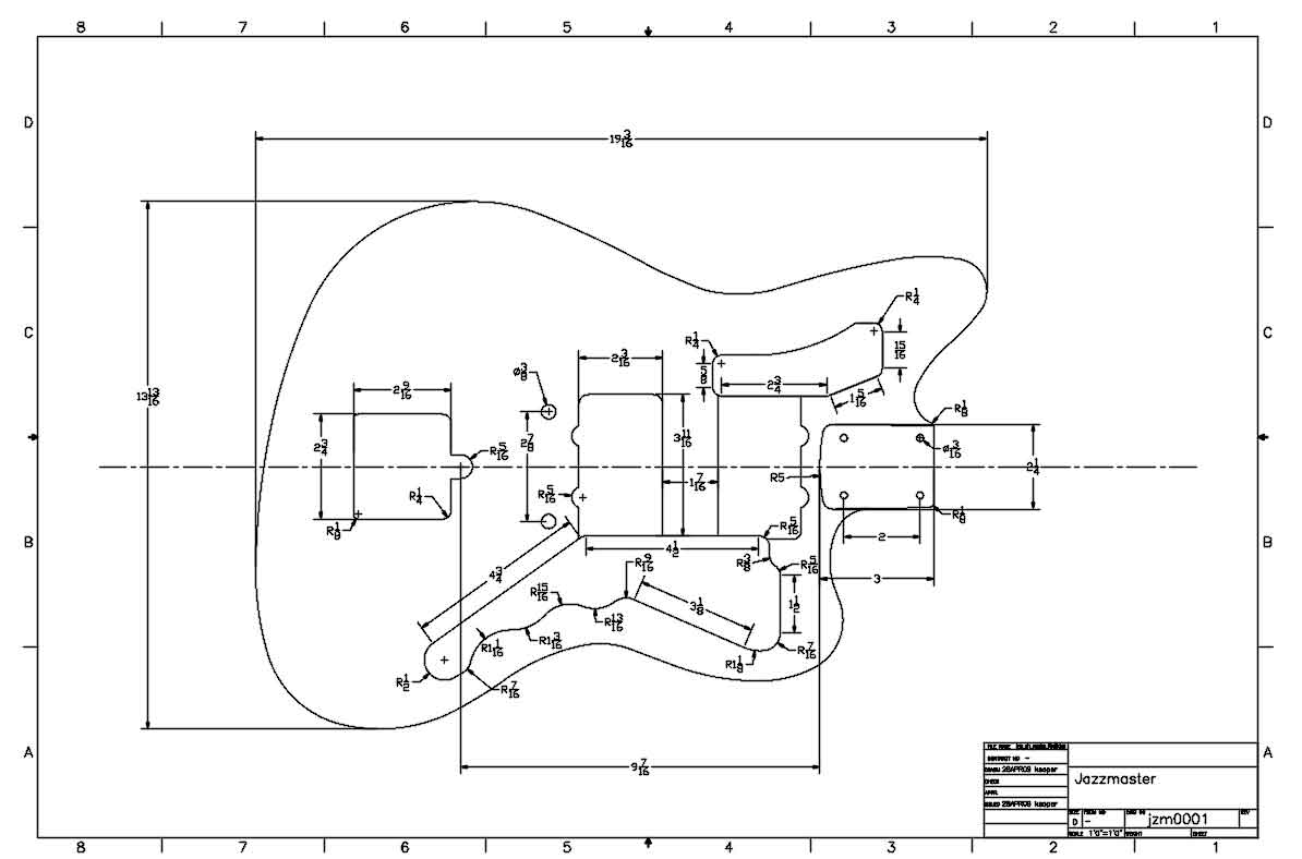 Fender Body Diagram