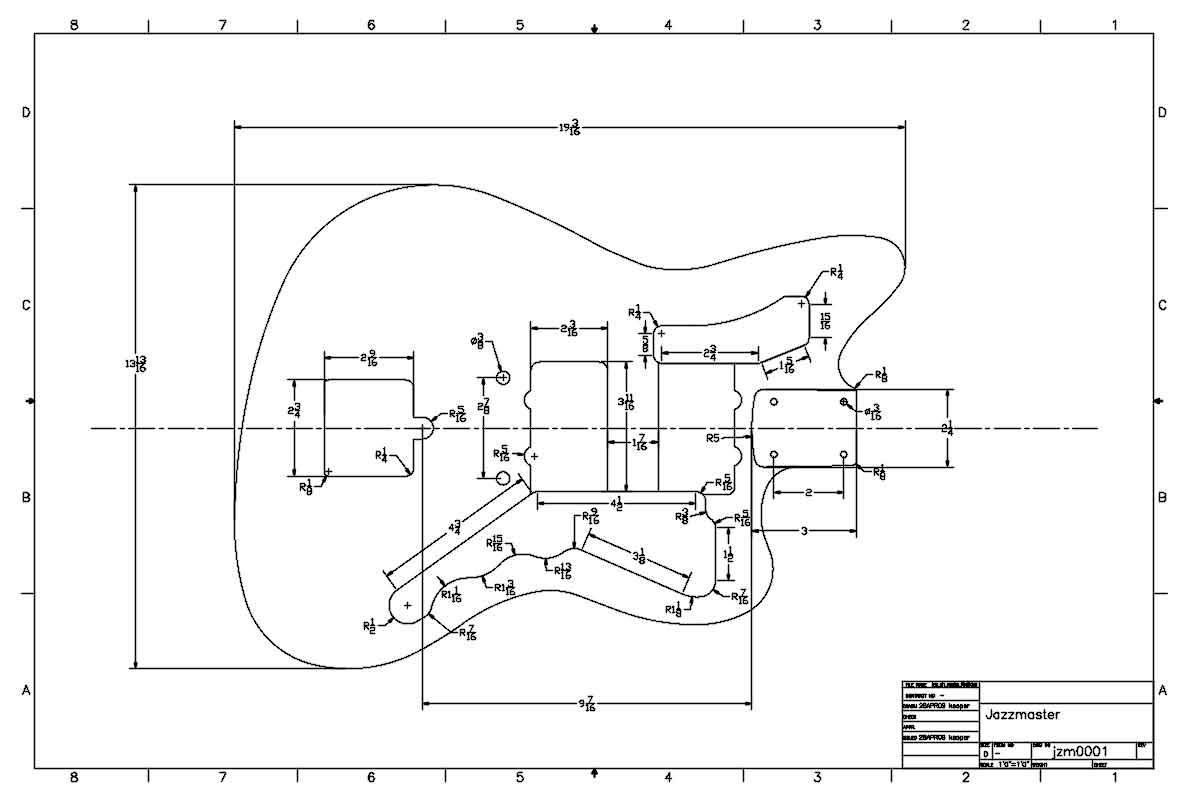 hight resolution of fender jazzmaster body