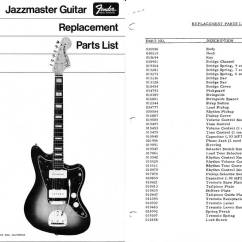 Guitar Parts Diagram Wiring For Sony Xplod Cd Player Fender Jazzmaster Templates Electric Herald