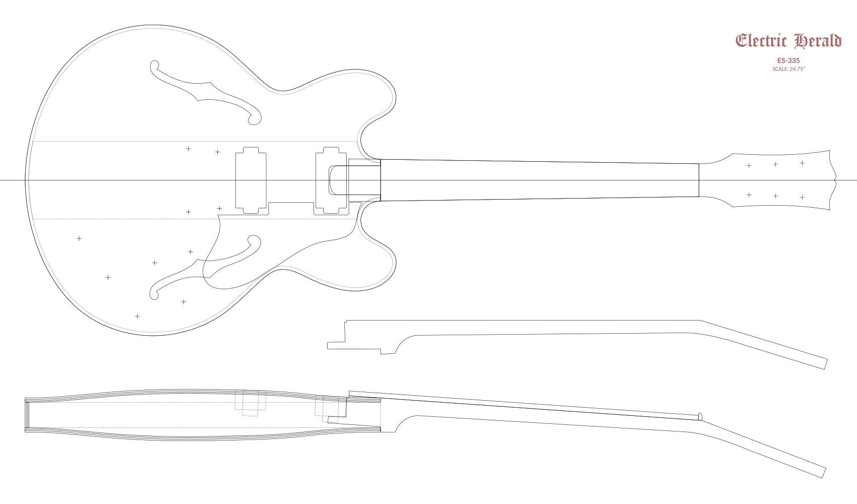 Gibson Es 335 Router Templates