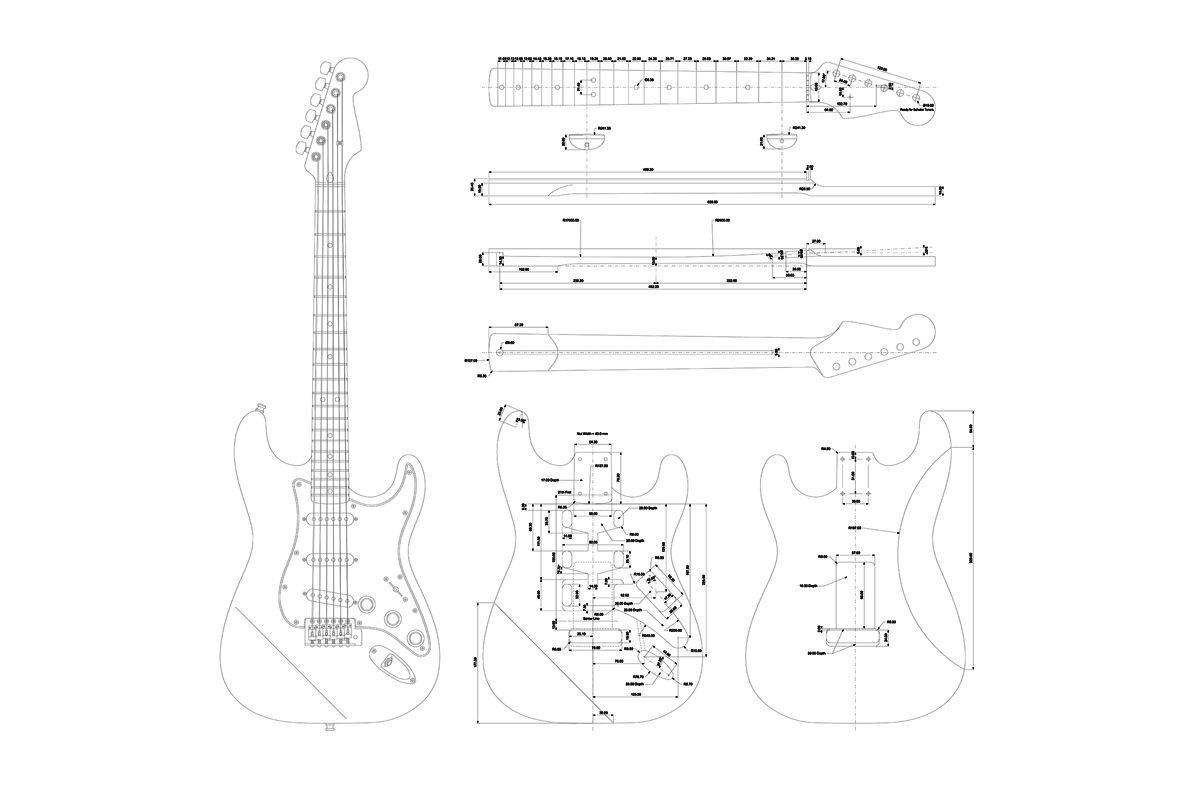 Diagram Of Electric Guitar Electronics For