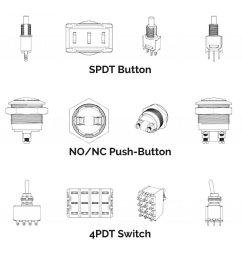 some examples of the various buttons and switches you may encounter and wish to use for your killswitch  [ 2366 x 798 Pixel ]
