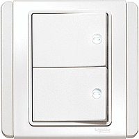 NEO 都會系列 E3000 二位LED燈開關制(白色)