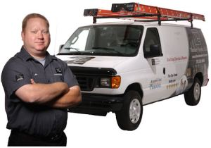 Electrician and truck