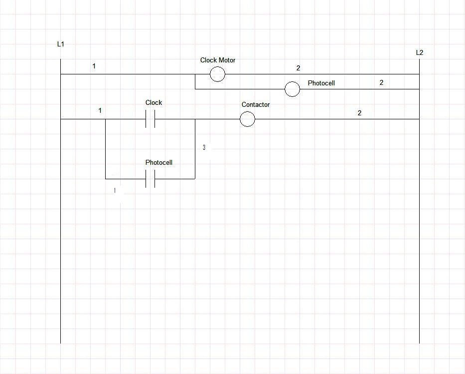 contactor timeclock wiring diagram