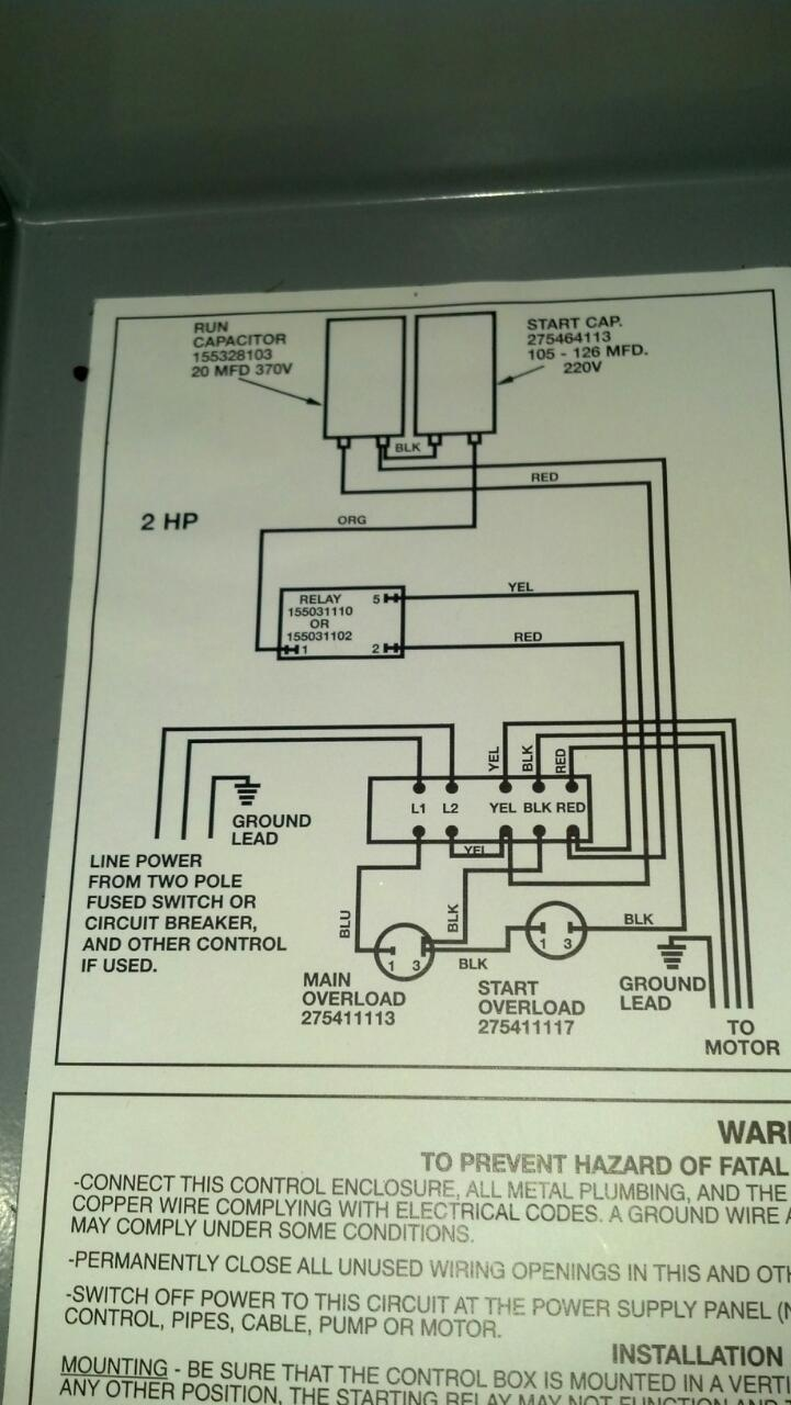 Well Pump Control Box Wiring Diagram Well Free Engine Image For User