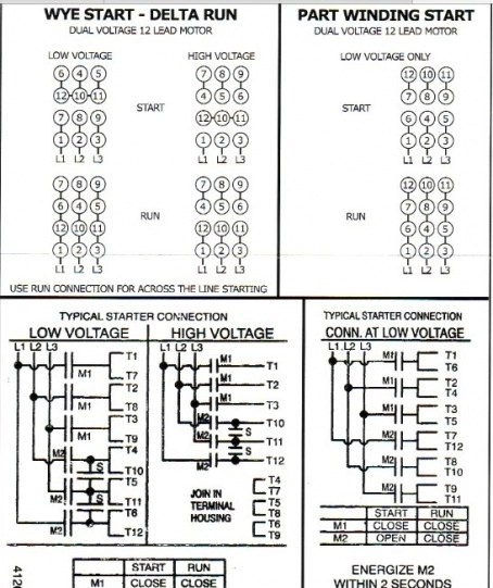 3 Phase Motor Wiring Diagram 12 Leads : 37 Wiring Diagram