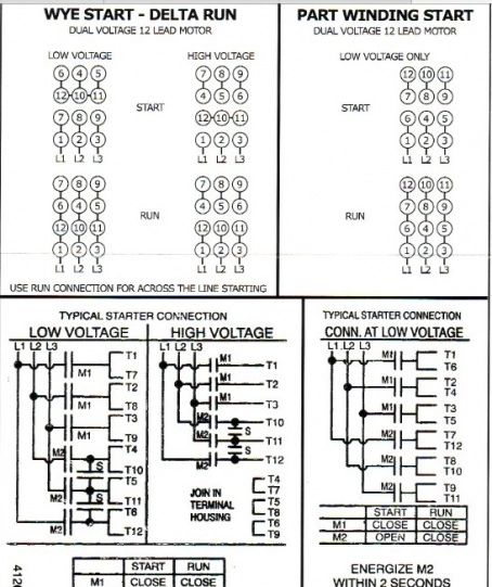 12 lead 480 volt motor wiring diagram