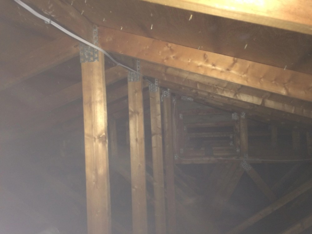 medium resolution of attic wiring is this code compliant electrician talk attic wiring is this code