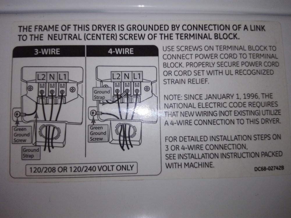 medium resolution of weird dryer 3 wire 4 wire diagram img 20190710 152736 jpg