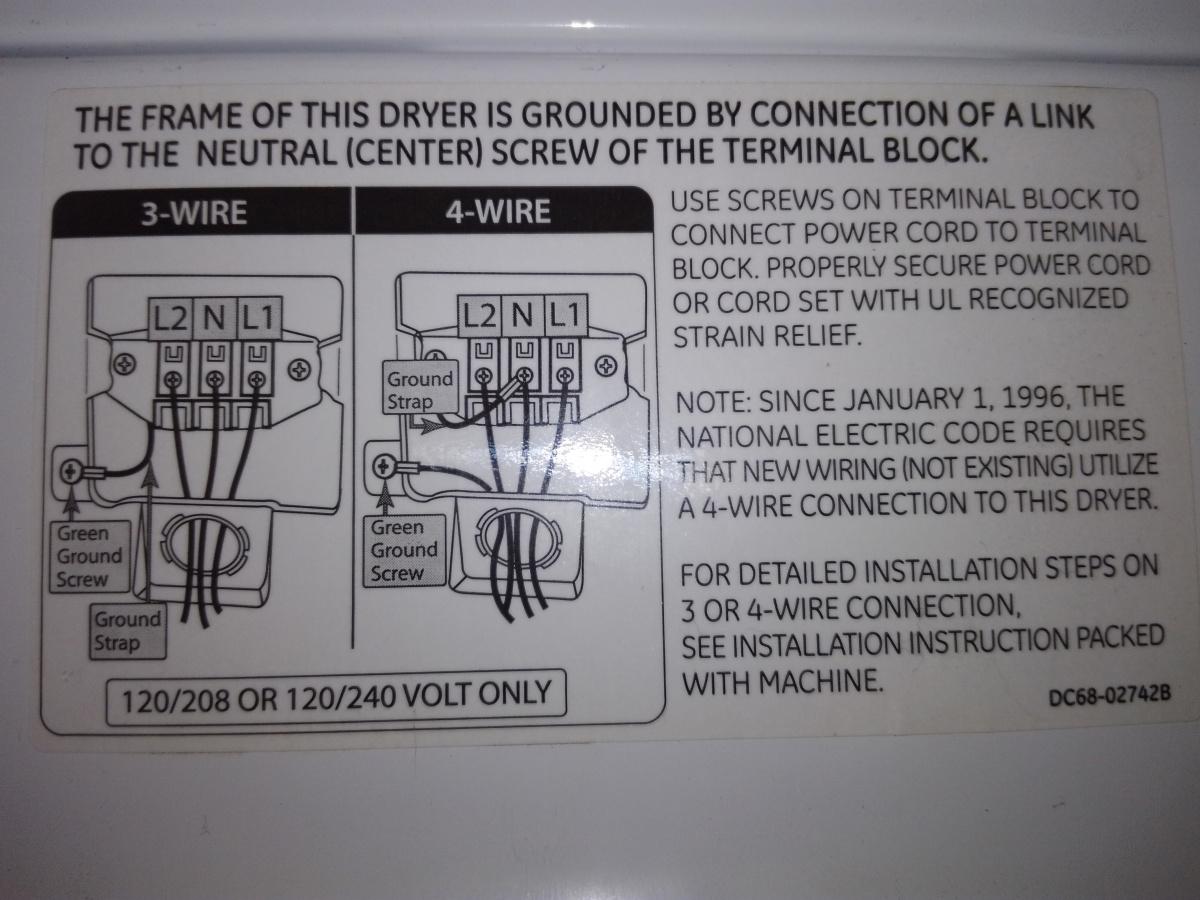 hight resolution of weird dryer 3 wire 4 wire diagram img 20190710 152736 jpg