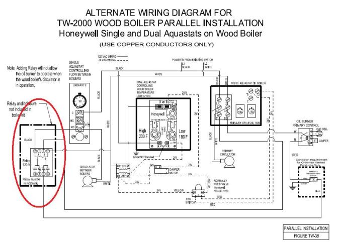 digital honeywell primary control wiring diagram for boiler