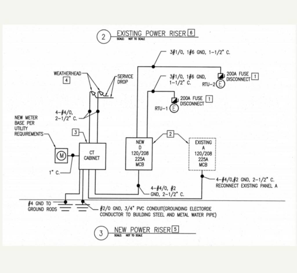 ct electric meter wiring diagram ge stove top cabinet parallel bonding electrician talk