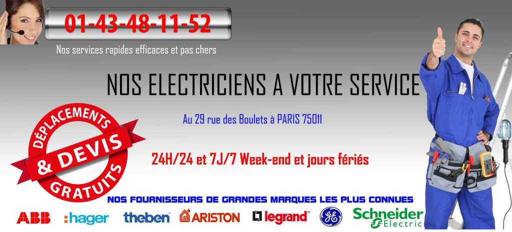 banniere electricien paris 75011