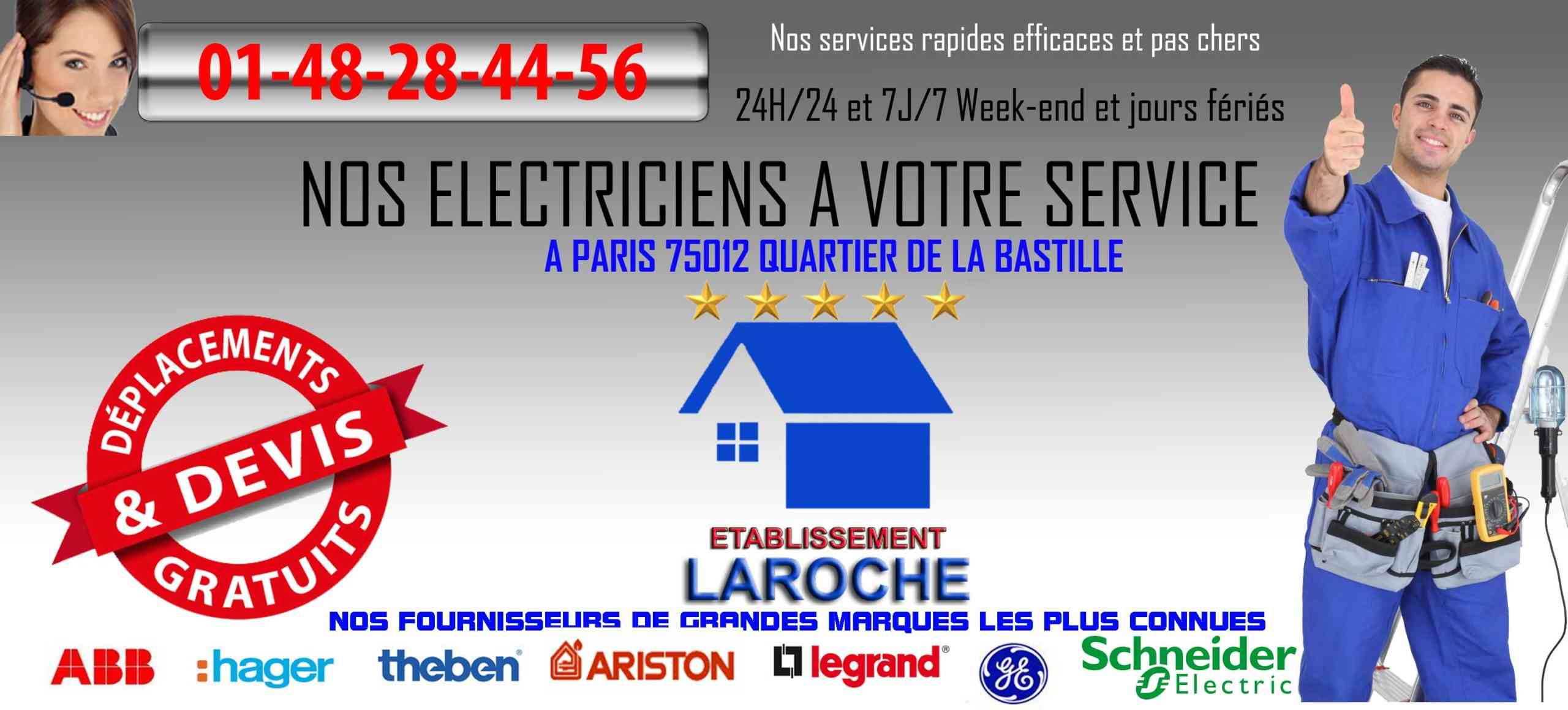electricien paris 75012