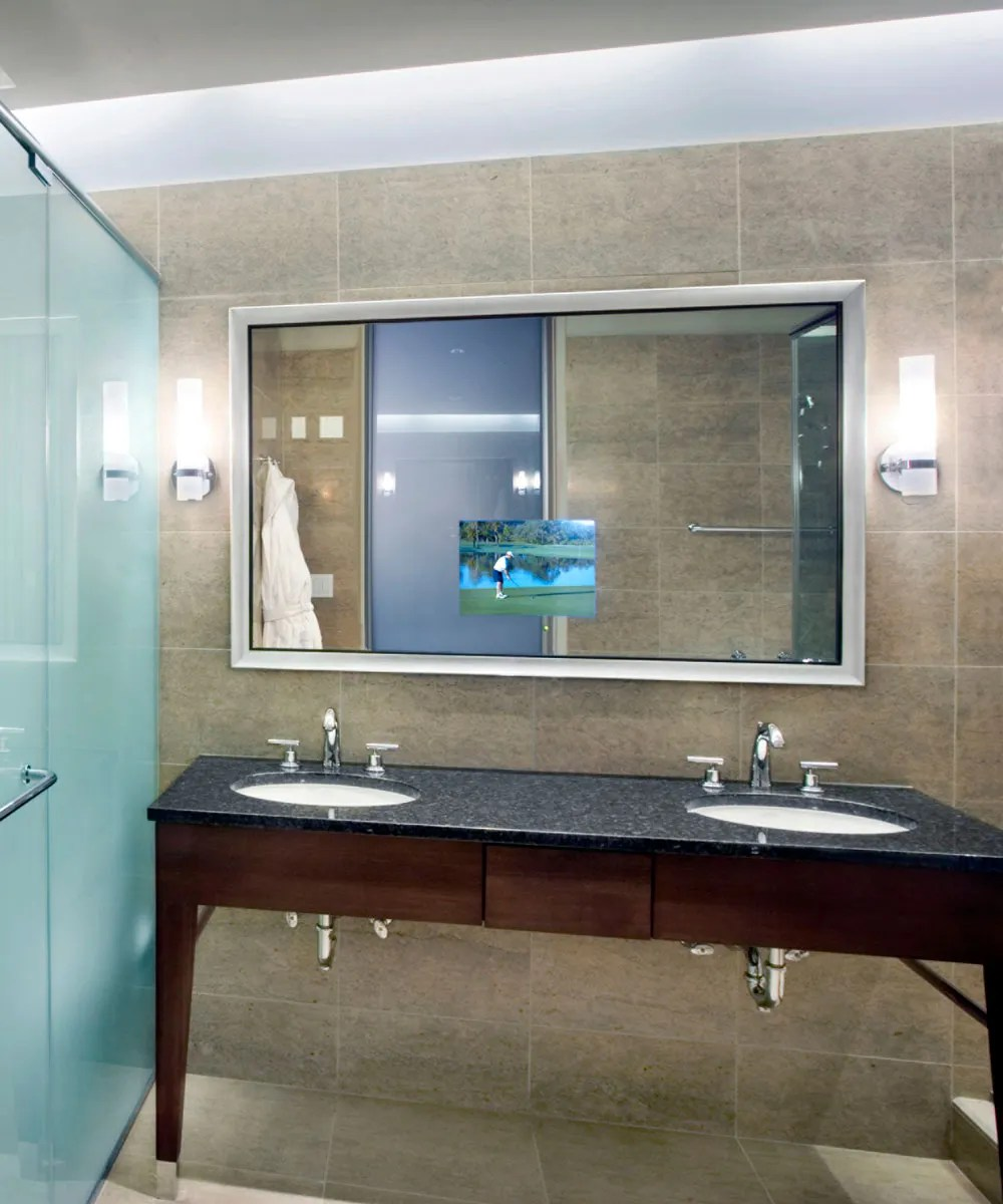 Stanford Lighted Mirror TV  Electric Mirror