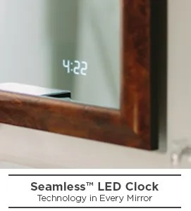 Seamless LED Clock for Lighted Mirrors  Electric Mirror