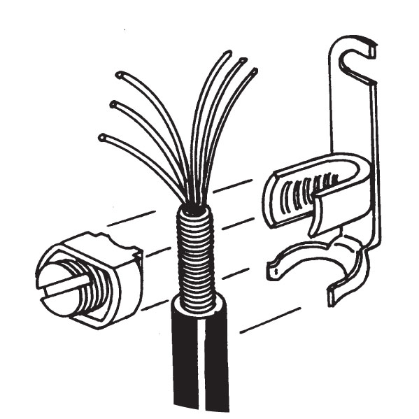 Short U-Shaped Buried Service Wire Shield Connectors with