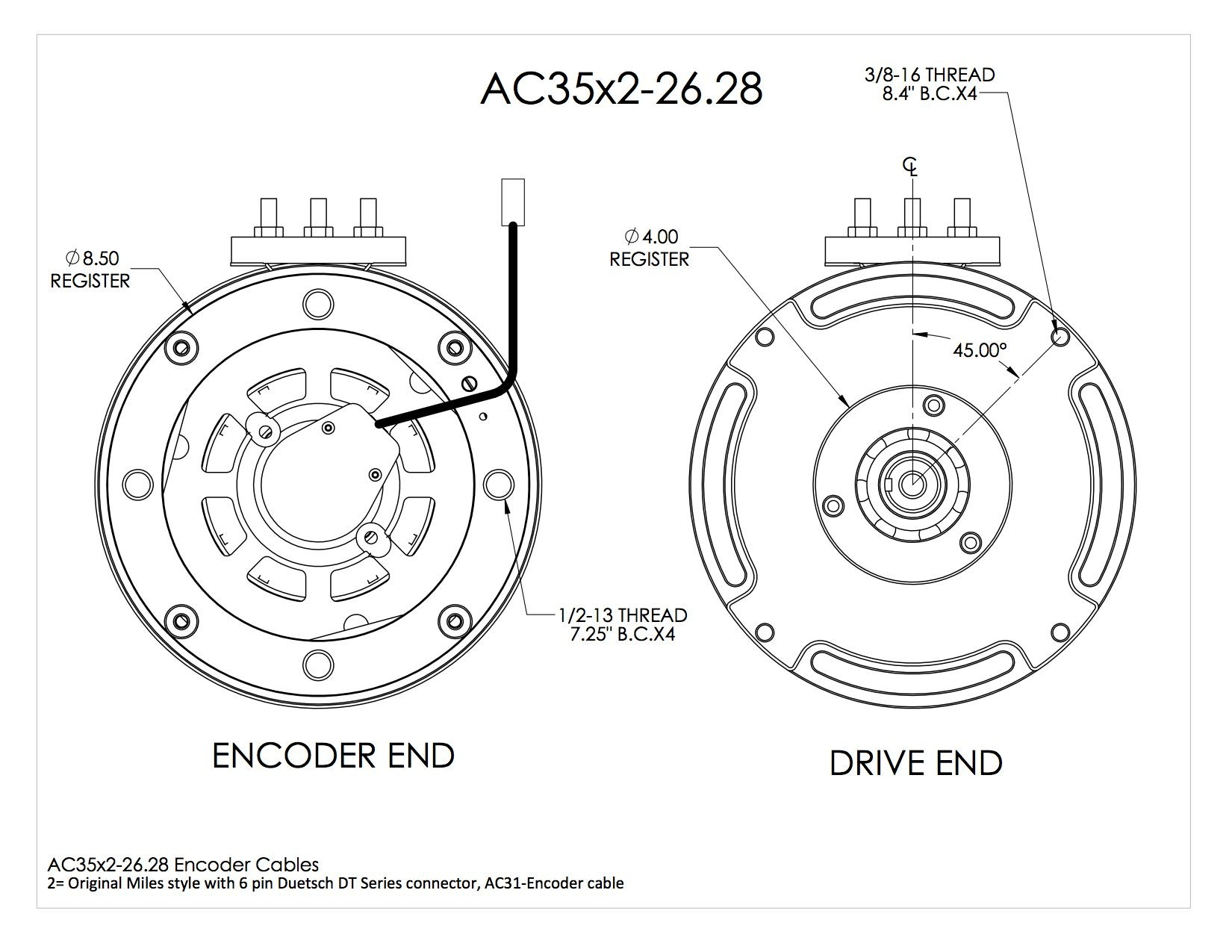 Ac 35x2 26 28 Dual Stator Induction Motor Vented B Face